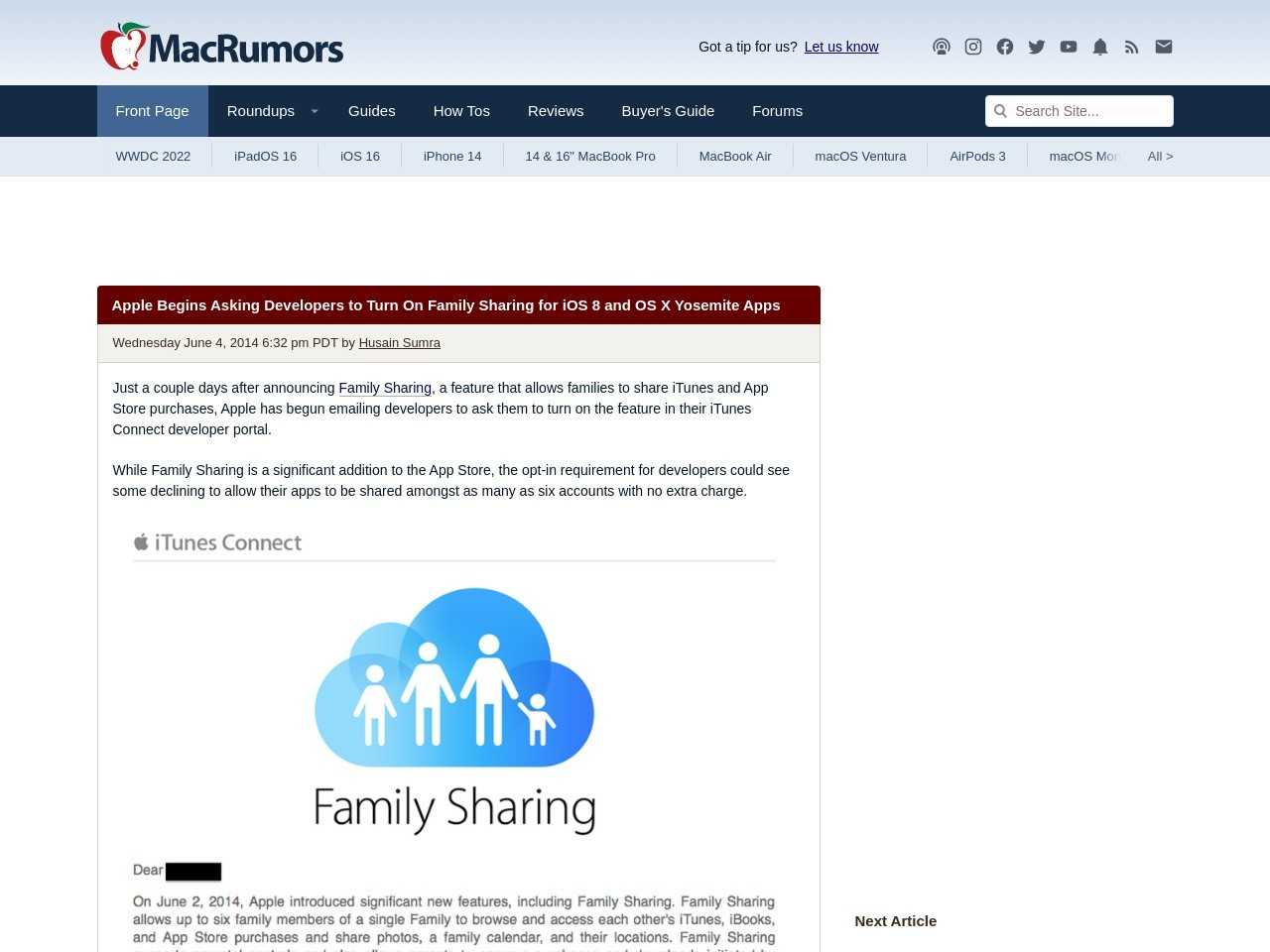Apple Begins Asking Developers to Turn On Family Sharing …
