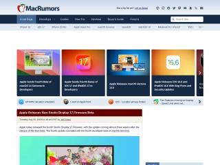 macrumors.com用のスクリーンショット