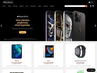 Captura de pantalla para macstoreonline.com.mx