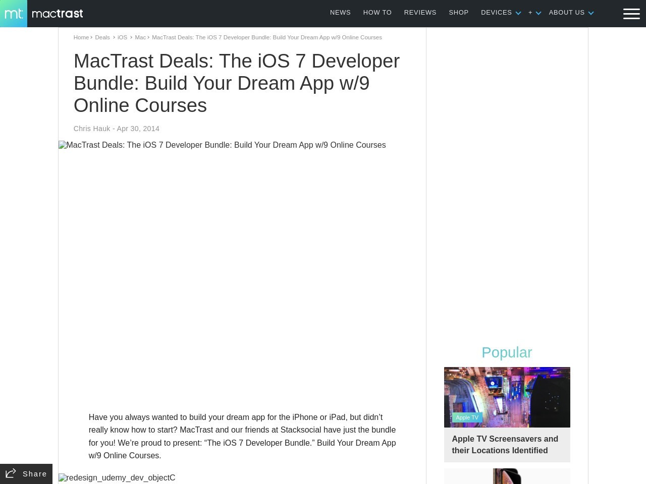 MacTrast Deals: The iOS 7 Developer Bundle: Build Your …