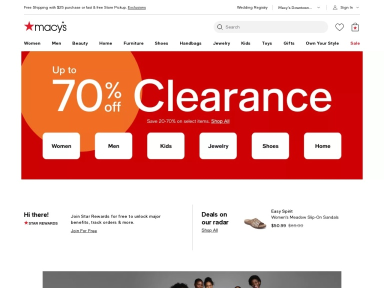 Macys.com screenshot