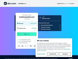 Screenshot do site madeiraquality.com