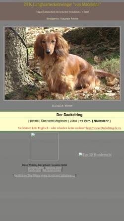 Vorschau der mobilen Webseite www.madeleines-dackel.onlinehome.de, Von Madeleine