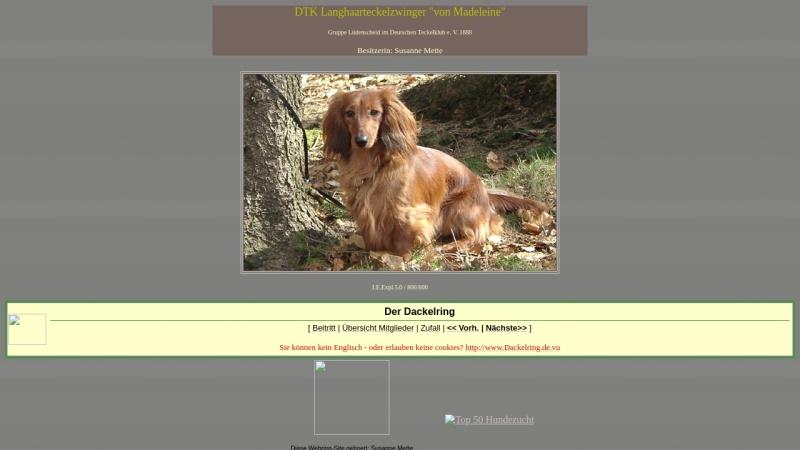 www.madeleines-dackel.onlinehome.de Vorschau, Von Madeleine