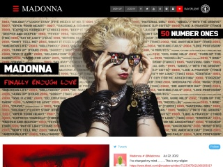 Screenshot for madonna.com