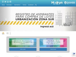 Captura de pantalla para madryn.gov.ar