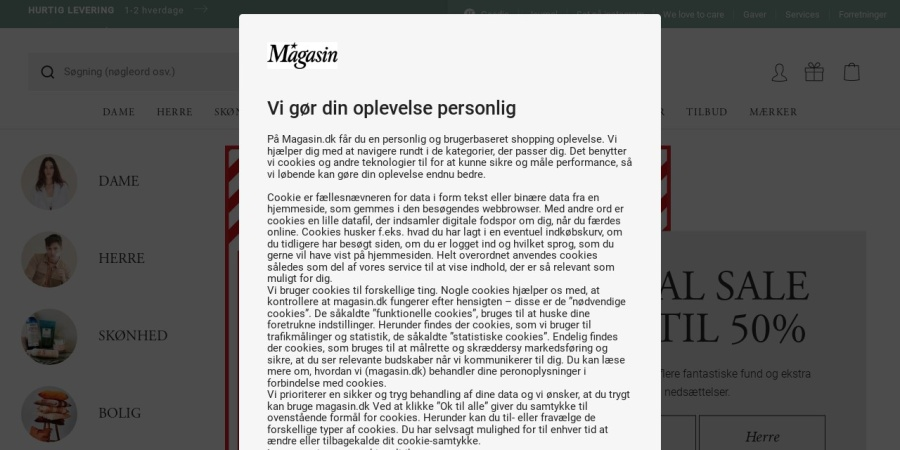 http://www.magasin.dk