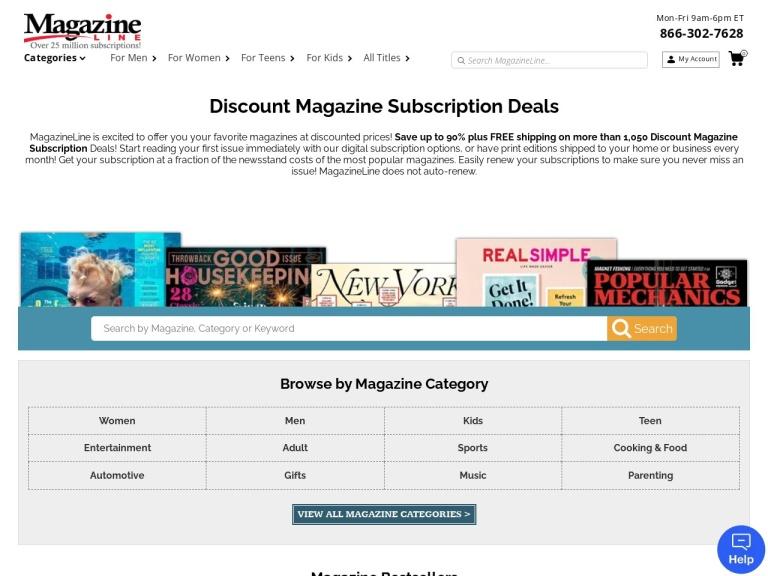 Magazineline.com screenshot