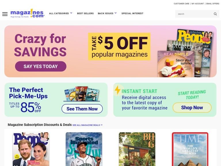 Magazines.com, Inc. screenshot