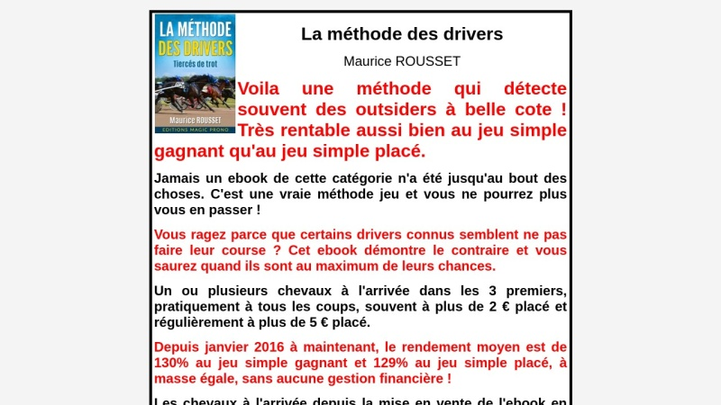 la methode des drivers