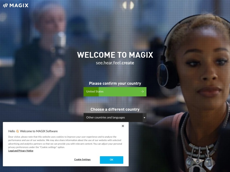 Magix Software & Vegas Creative Software screenshot