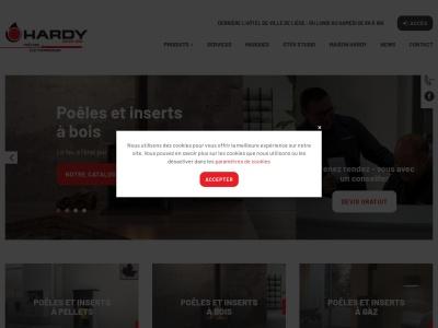 Maison-hardy.be : Vente d'appareils de chauffage et d'électroménager