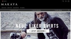 www.makaya.de Vorschau, MAKAYA der Online Designer Shop für Vintage & Custom T-Shirts
