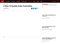 5 Convenient Sites To Quickly Order Food Online