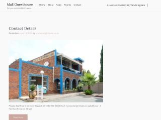 Screenshot for mallguesthouse.co.za