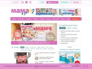 Screenshot stránky mamaaja.sk