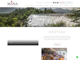 Screenshot for manahotels.in
