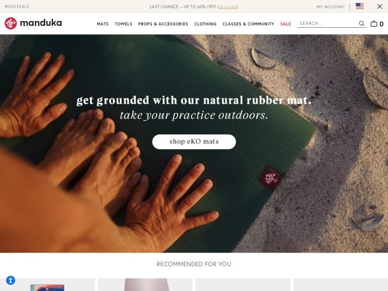 manduka.com screenshot