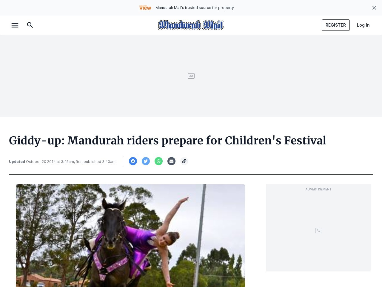 Giddy-up: Peel riders prepare for Mandurah Children's Festival