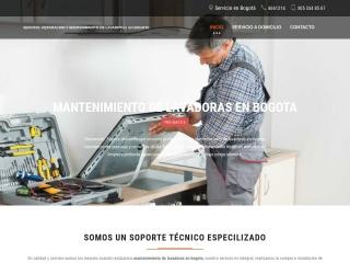 Captura de pantalla para mantenimientodelavadoras.com.co
