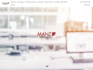 Screenshot der Website manz-solutions.at