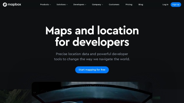 Screenshot von http://www.mapbox.com/tour/ in Flat Webdesign