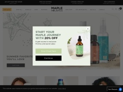 Mapleholistics Promo Codes 2018