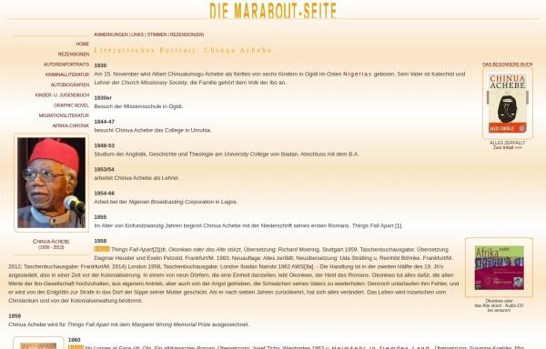 Vorschau von www.marabout.de, Chinua Achebe