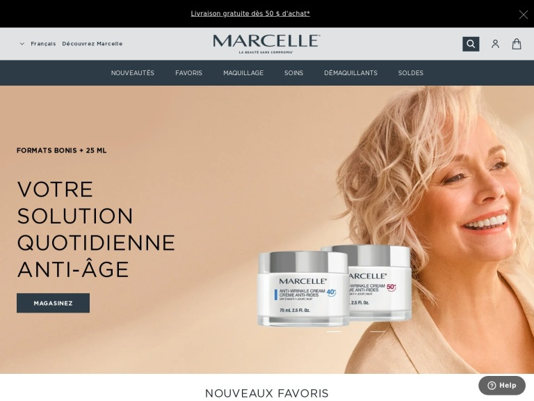 Marcelle Cosmetics screenshot