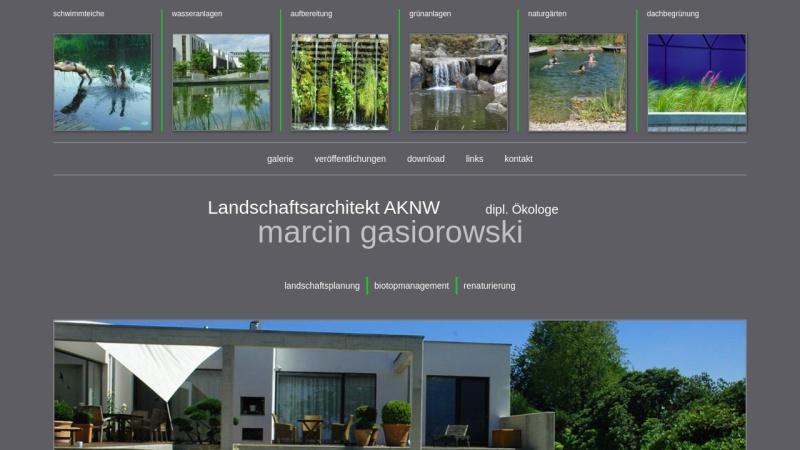 www.marcin-gasiorowski.de Vorschau, Landschaftsarchitekturbüro Gasiorowski