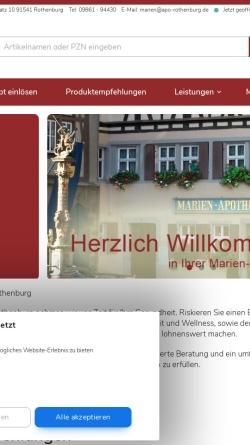 Vorschau der mobilen Webseite www.marien-apotheke.biz, Marien-Apotheke