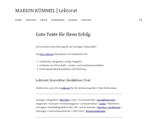Screenshot der Website marionkuemmel.de
