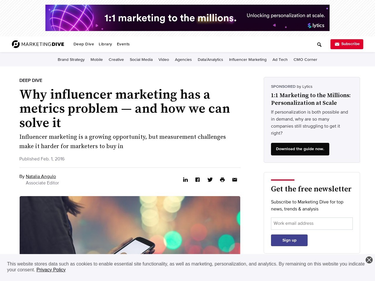 Why influencer marketing has a metrics problem — and how we can solve it