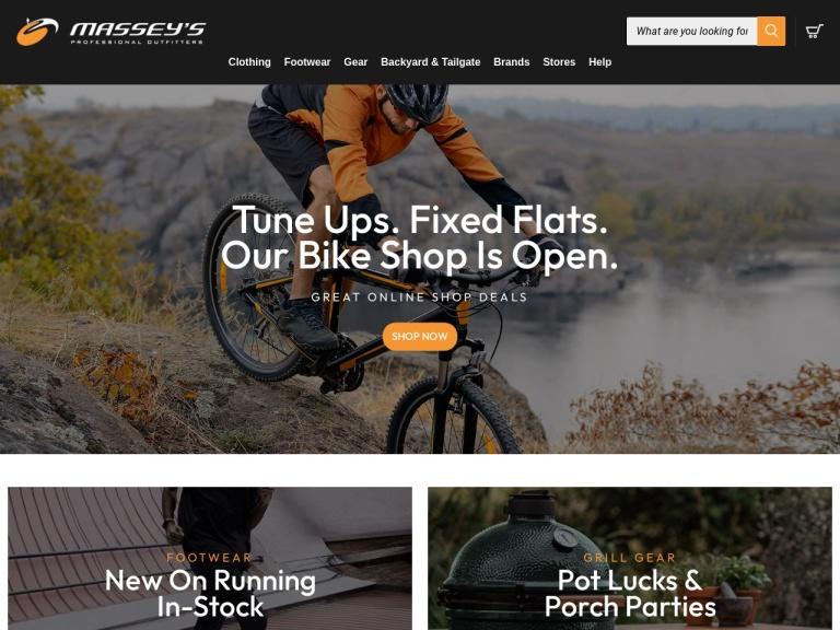 MasseysOutfitters.com screenshot