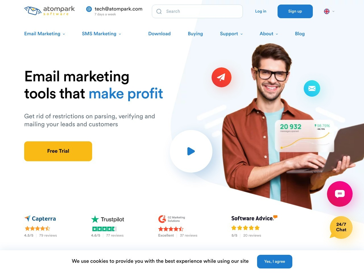 Email Service Subscription 1000