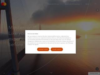 Screenshot do site mastercard.com