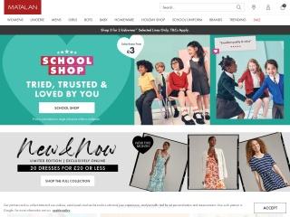 Screenshot for matalan.co.uk