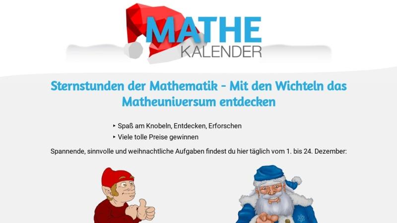 www.mathekalender.de Vorschau, Mathekalender