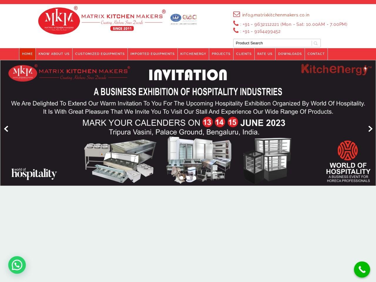 Kitchen Equipment Manufacturers Manipal