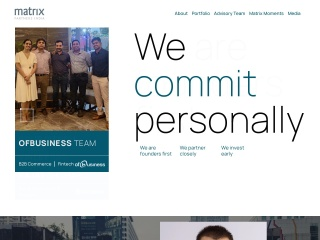 Screenshot for matrixpartners.in