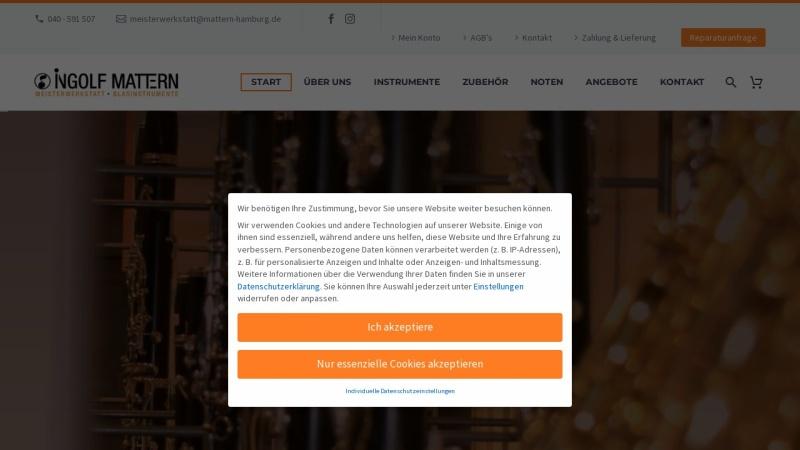 www.mattern-hamburg.de Vorschau, Werkstatt für Holzblasinstrumente, Ingolf Mattern