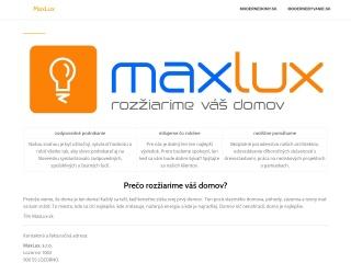 Screenshot stránky maxlux.sk
