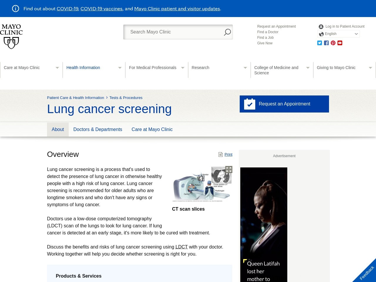 Newest screening focused on detecting lung cancer early