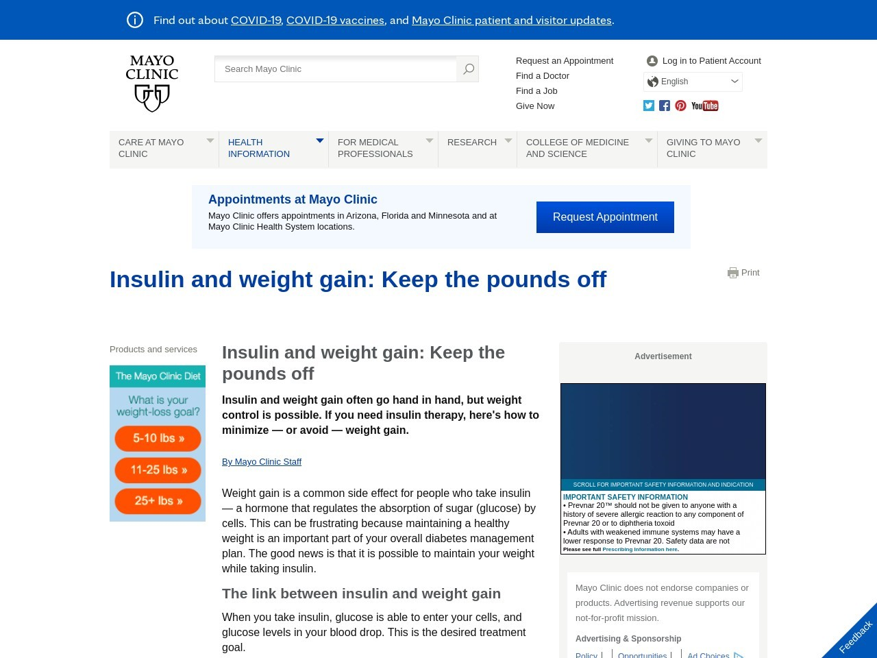How to manage your weight on diabetes medicine