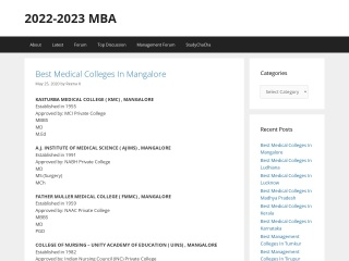 Screenshot for mba.ind.in
