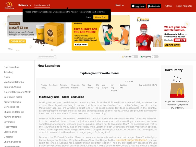 McDonalds Coupons screenshot