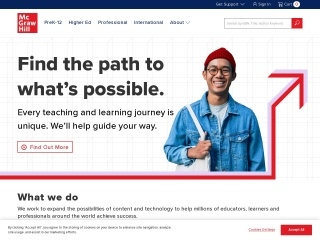 Screenshot for mcgraw-hill.com