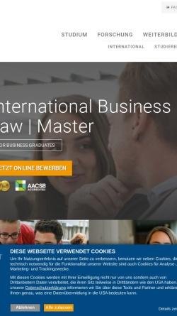 Vorschau der mobilen Webseite www.mci.edu, Master-Program International Business & Tax Law