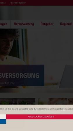 Vorschau der mobilen Webseite www.mdbkk.de, Mitteldeutsche Betriebskrankenkasse (BKK MD)