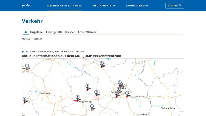 www.mdr.de Vorschau, MDR - Verkehr